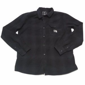 Fox Racing Flannel Shirt Long Sleeve Button Front